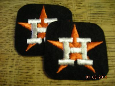 MLB Houston Astros embroidered patches (2), vintage, neat items, ex