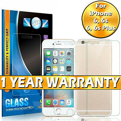 For Apple iPhone 6 6s Plus Front and Back 100% Tempered Glass Screen Protector