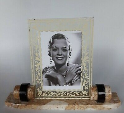 Art Deco French marble / glass photo frame
