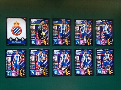 Topps Match Attax Champions League 2019/20 -- Complete Base Set -- Espanyol