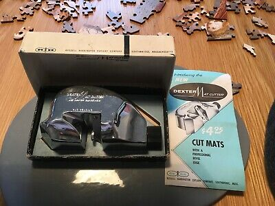 #VINTAGE Dexter Picture Mat Cutter with  Box And Instruction manual