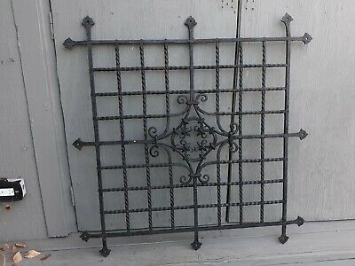 Antique Architectural Wrought Iron Panel  Samuel Yellin Type Arts and Crafts