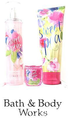 Bath and Body Works Sweet Pea Diamond Shimmer Mist , Body Cream & Pocketbac