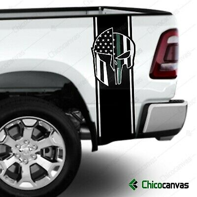 Military Thin Green Line Flag Universal Truck Rear Window 50//50 Perforated Vinyl