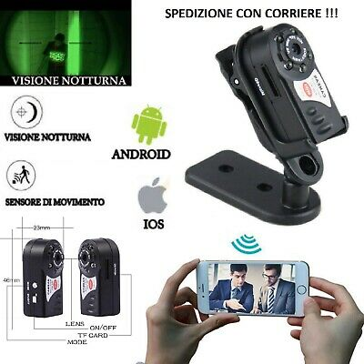 Telecamera spia Wifi 3g 4g p2p infrarossi microcamera mini IP Spy Camera HD mini