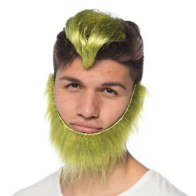 DR SEUSS THE GRINCH SANTA HAT WITH GREEN BEARD CHRISTMAS COSTUME ACC EL291261