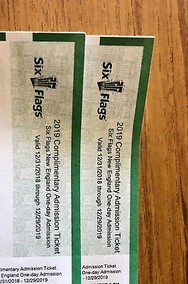 2 Six flags New England single day tickets