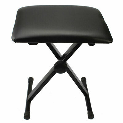 Folding Piano Stool Keyboard Bench Padded Seat Cushion Chair Adjustable Height