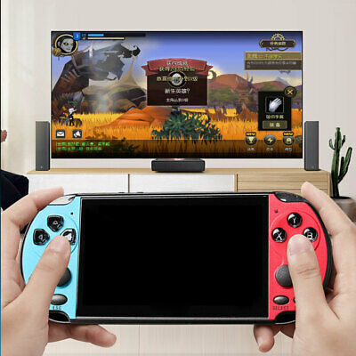 """X7 Plus 5.1"""" Double Rocker Handheld Game Console Support 1000 Games E0D5I"""