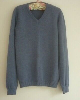 "John Lewis men's blue Merino wool/Cashmere jumper size chest 40""- 42"" XL"