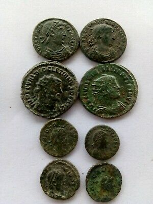 002.Lot of 8 Ancient Roman Bronze Coins,Uncleaned