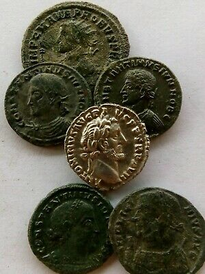 013.Lot of 6 Ancient Roman Coins,Silver Denar Extremely Fine,5x Bronze EF