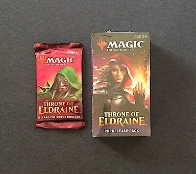 Sealed MTG Throne of Eldraine Collector Edition Booster + Prerelease Pack Magic
