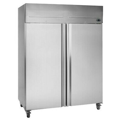 Tefcold RK1420P Double Door Chiller Stainless 2/1 Gastronorm Fridge Commercial