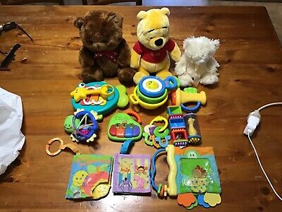 baby toys bulk bundle (Fisher-Price, Playgro, Winnie the Pooh)