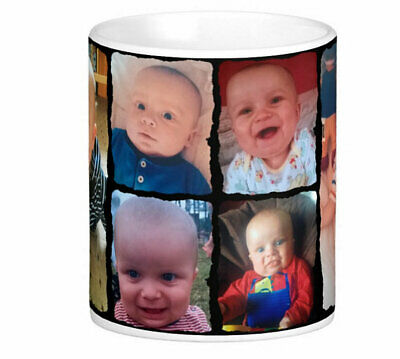 Personalised Mug 6 Photo Collage Mother Father Christmas Gift Tea Coffee Cup