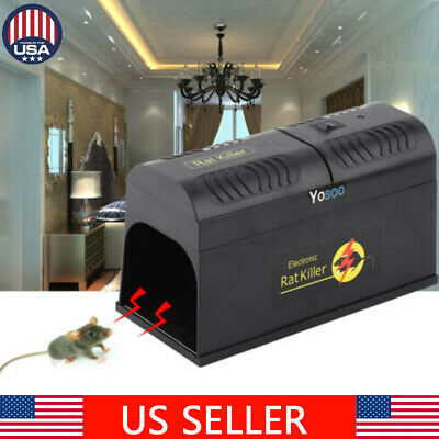 Electronic Mouse Rat Mice Trap Zapper Rodent  Killer Pest Control Home US