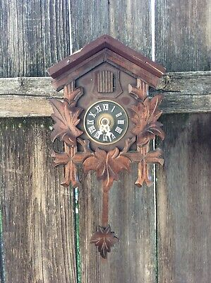 Vintage Small Sized German Black Forest Cuckoo Clock, Parts / Restoration