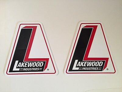 2 NOS 1969 Lakewood Racing Stickers Decal Rare Original Logo Vintage Large Size