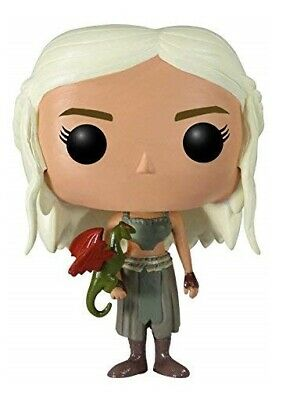 FLAWED BOX Game of Thrones Daenerys Targaryen with Dragon POP Vinyl Figure FUNKO