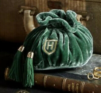NWT Pottery Barn Harry Potter Slytherin Jewelry Pouch-Sold Out New