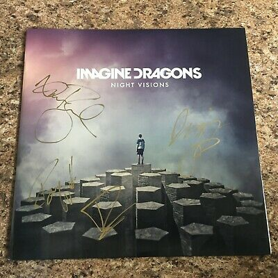Imagine Dragons Full Band Signed Autograph Night Visions Vinyl Record Album