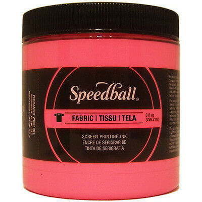 Speedball Fabric Screen Printing Ink Fluorescent 8oz-Hot Pink