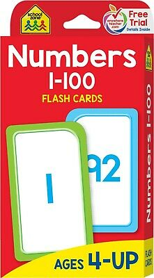 Flash Cards Numbers 0-100 Brighter Child Educational Book Kids Gift