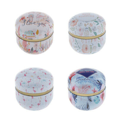 Scented Candle Natural Soy Wax Tin Box Tea Light Romantic Gifts