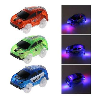 Electronic LED Light up Cars Flashing Car Educational Toy for Kid Children f