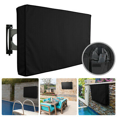 "30""-58"" Inch Waterproof TV Cover Outdoor Patio Flat Television Protector Black"