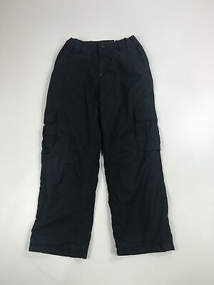 Kids Mountain Warehouse Black Lightly Padded Cargo Activity Trousers Age 7-8 Yr