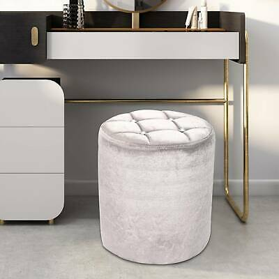 Dressing table broken velvet stool mini chair round Footrest crushed velvet