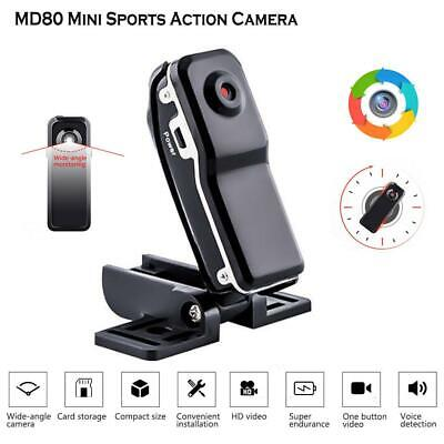 MD80 Mini Sports Action Camera Webcam DV DVR 720P HD Recorder Camcorder w/Holder