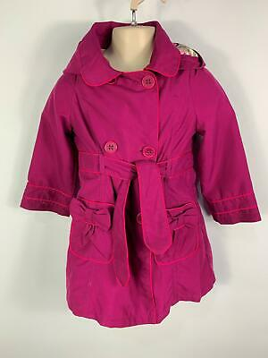 Girls Marks&Spencer Purple Hooded Casual Jacket Trench Coat Kids Age 4/5 Years