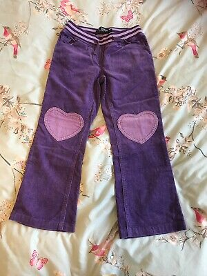 Mini Boden Girls' 6 Yrs Purple Cord Trousers