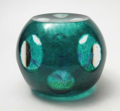 Caithness Glass Paperweight Limited Edition 350 Aquamarine Colin Terris Signed