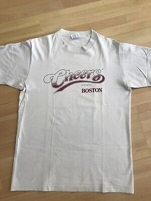 CHEERS BOSTON VINTAGE 90s T SHIRT AMERICAN SIT COM LARGE