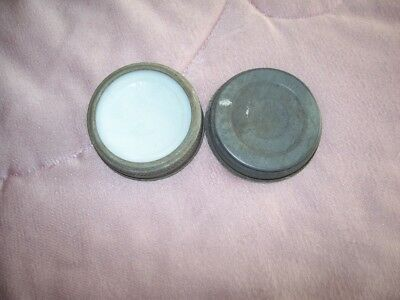 """Antique Vintage White Crown Cap Lid  Marked """"PAT- 11-22-10"""" and 1 unmarked"""