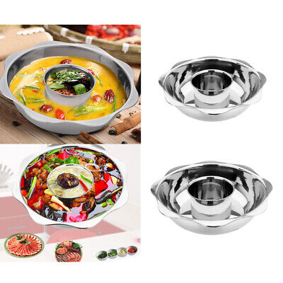 Stainless Steel Hot Pot Chinese Charcoal Mongolian Food Cooker Picnic 4.5l 36cm