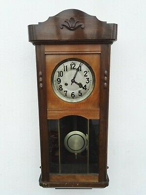ANTIQUE Gustav Becker 1915 GERMAN PENDULUM WALL CLOCK REGULATOR WITH GONG CHIME