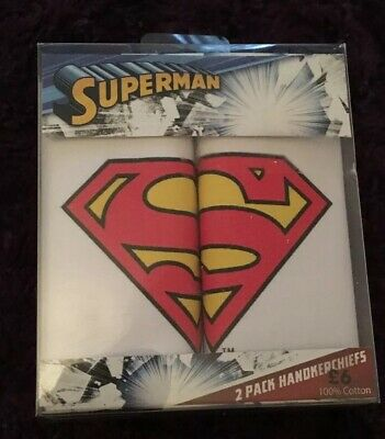 Superman Handkerchiefs Hanky Hankies DC Stocking Fillers