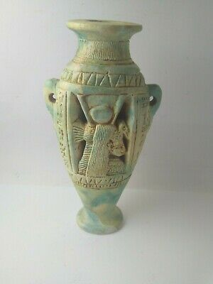 RARE ANTIQUE ANCIENT EGYPTIAN Statue of Stone Isis Vase 1232 Bc