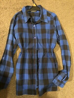 Blooming Marvellous blue checked shirt size 14