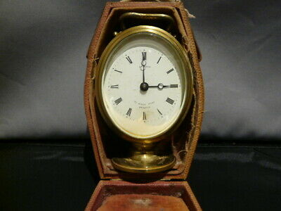 Antique Cased Oval Carriage Clock By L Dixey Of Brighton (Gwo)