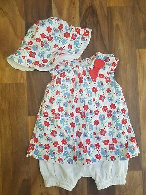 Gorgeous Baby Girls Summer Outfit/Hat •0-3months•  Nutmeg• Smoke & Pet Free Home