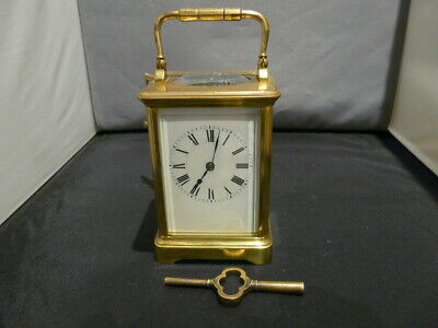 Antique Henri Jacot Striking Carriage Clock Serial Number Matches Key