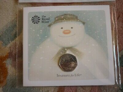 ROYAL MINT THE SNOWMAN 2018 50p COIN 40th ANNIVERSARY BRAND NEW UNOPENED