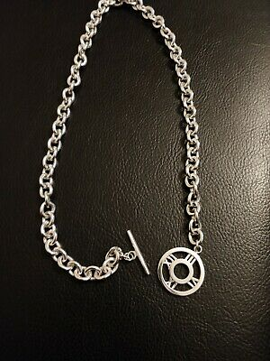 "17.5-18"" Tiffany & Co 2003 Sterling Silver Numeral Atlas Toggle Necklace Choker"