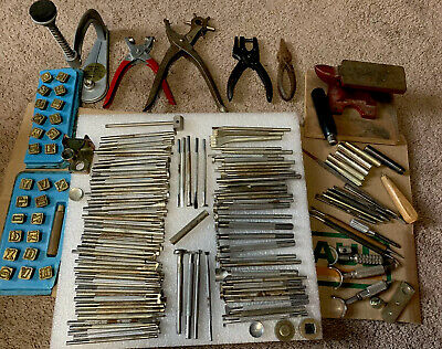 Big Lot Of Vintage Leather Working Tools Craftool Co. U. S. A.
